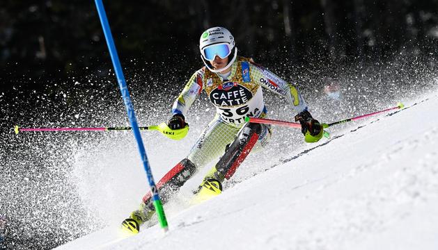 Mimi va disputar l'última cursa a l'eslàlom del Mundial de Cortina d'Ampezzo.