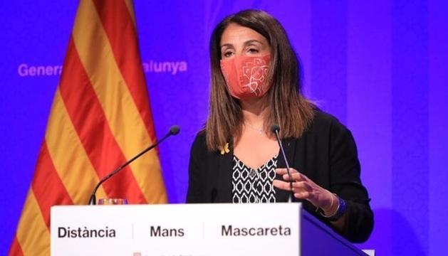 La portaveu catalana, Meritxell Budó.