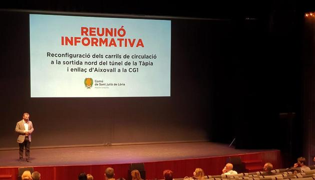 La reunió informativa d'ahir a Sant Julià.
