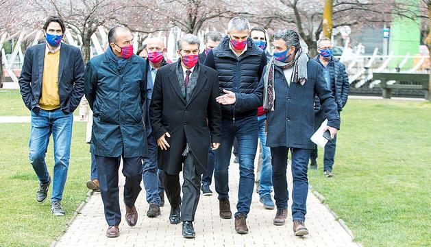 Acte de campanya de Laporta al Parc Central