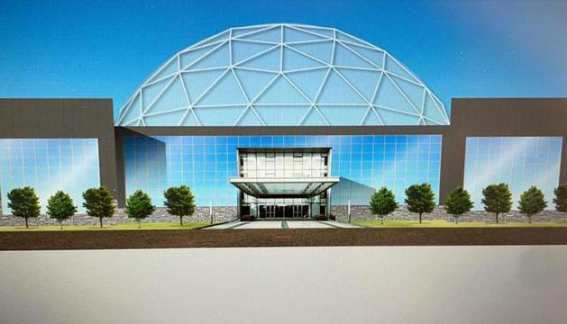 Simulació de la remodelació de l'edifici lauredià, que comptarà amb una zona enjardinada al voltant.