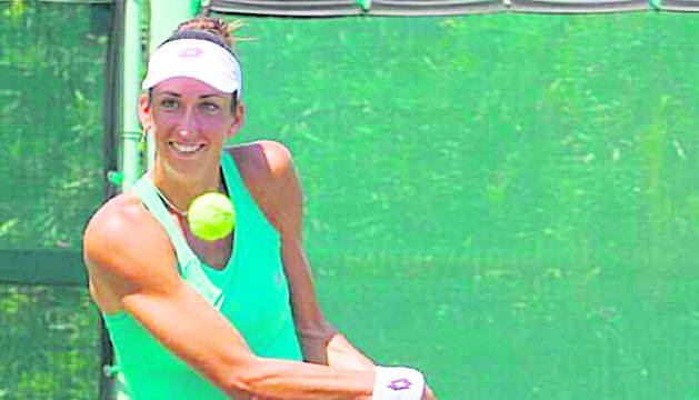 La tennista Georgina García.