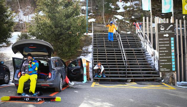 Un grup d'esquiadors a Grandvalira aquesta temporada.