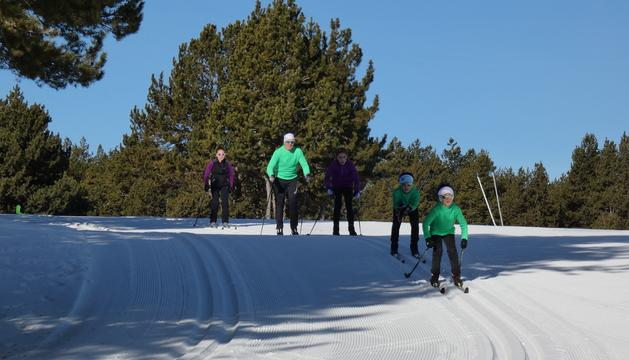 Esquiadors de fons a la Rabassa