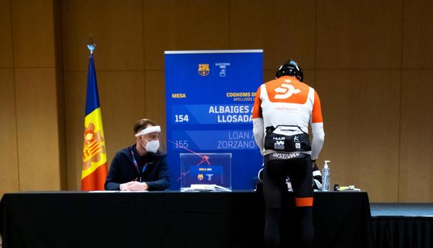 En Robert, ciclista de la Seu d'Urgell