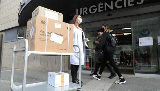 L'arribada de les vacunes AstraZeneca de França.