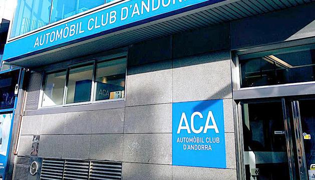 La façana de l'Automòbil Club d'Andorra.