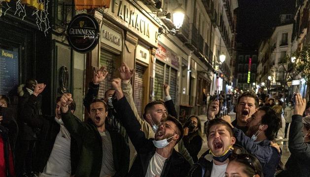 Turistes francesos a Madrid.