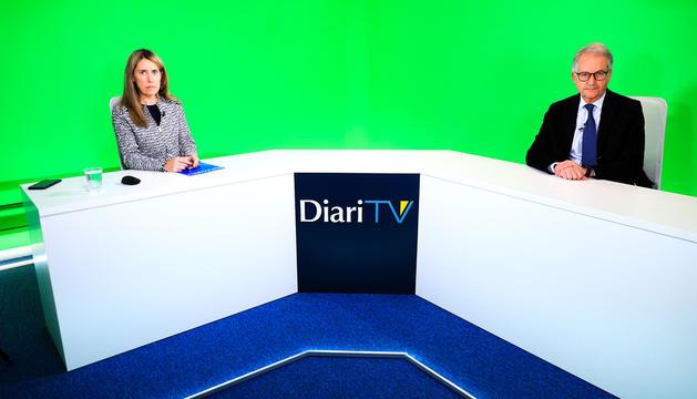 El director del Servei Andorrà d'Atenció Sanitària (SAAS), Josep Maria Piqué, ahir al 'Parlem-ne', de DiariTV.