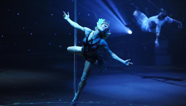 Una ballarina en un espectacle del Cirque a Andorra.