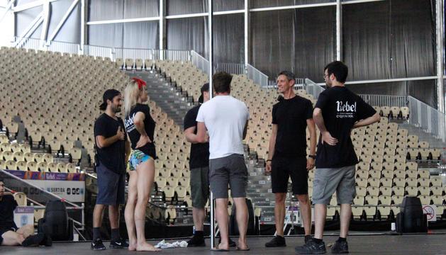 Els artistes del Cirque duSoleil en un assaig durant la temporada del 2019.