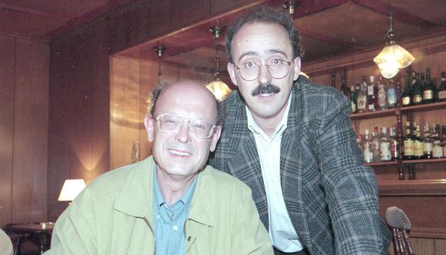 Joan pieras amb Francisco Ibáñez.