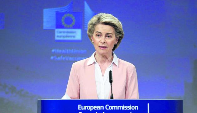 Ursula von der Leyen, presidenta de la CE.