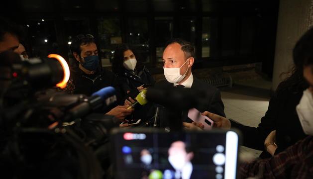 El cap de Govern, Xavier Espot, en la compareixença d'aquest vespre.