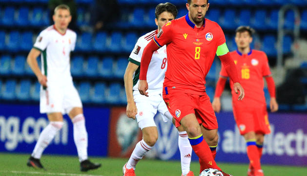 Marcio Vieira, en un moment del partit contra Hongria.