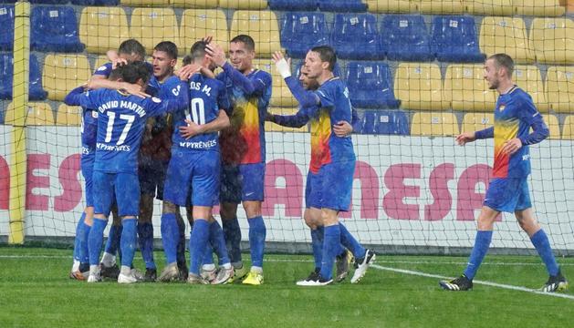 Segona victòria consecutiva de l'FC Andorra (1-3)