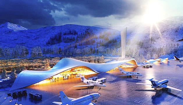 La simulació de l'aeroport nacional a Grau Roig presentada per la Cambra de Comerç.