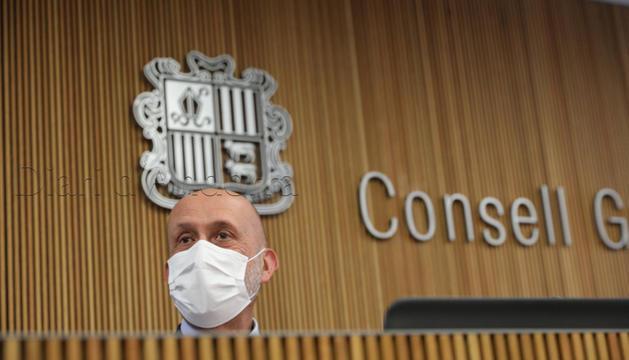 El ministre Joan Martínez Benazet avui a la Comissió de Sanitat