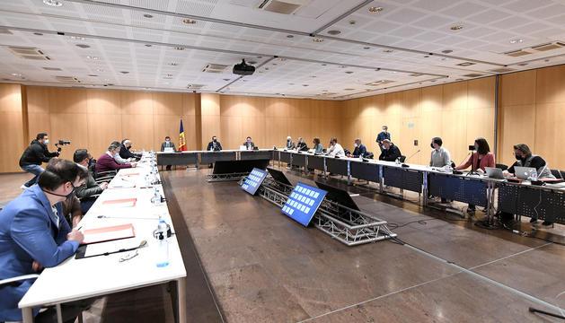 La reunió de la taula nacional de l'habitatge que es va celebrar ahir.