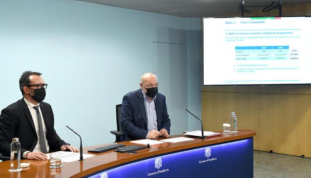 El ministre Víctor Filloy i el departament d'Afers Soicals Socials, Joan Carles Villaverde.