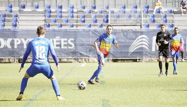 Marc Aguado en un partit anterior.