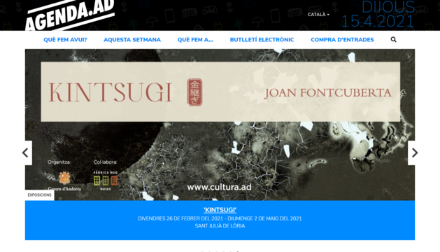 El web oficial potencia la jerarquització dels continguts en funció de l'ús que vulgui fer-ne cada usuari
