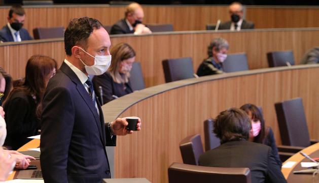 El cap de Govern, Xavier Espot, al Consell General.