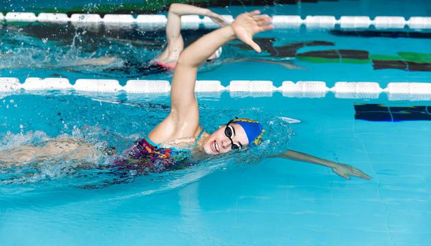 Nàdia Tudó durant un entrenament al Centre Esportiu d'Ordino.