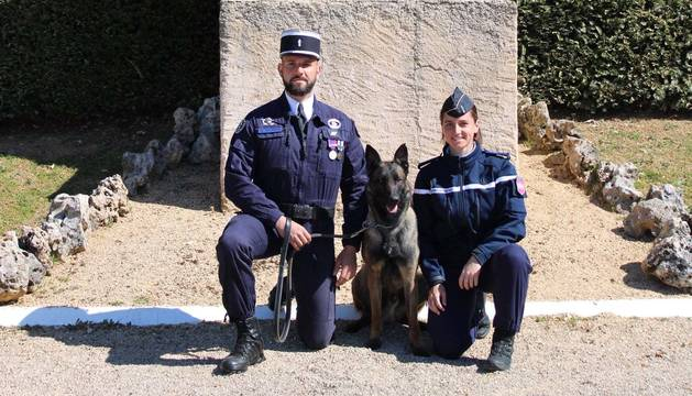 El nou membre amb la policia d'Agen