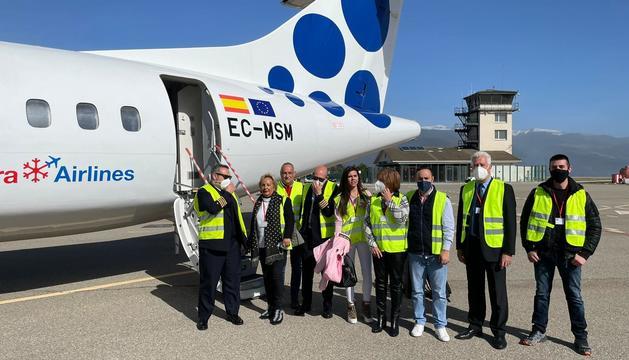 El personal d'Andorra Airlines