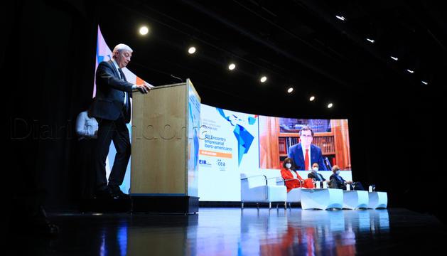 El president de la CEA, Gerard Cadena, en la inauguració de la Trobada Empresarial