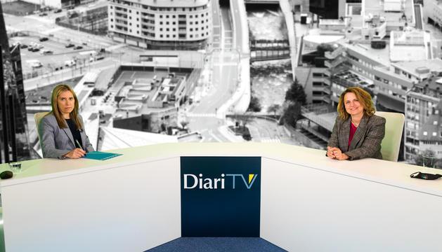 La cònsol major d'Escaldes-Engordany, Rosa Gili, ahir en conversa amb Diari TV.