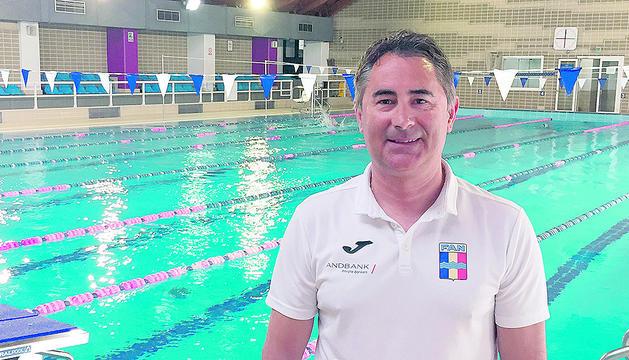 El president de la Federació Andorrana de Natació, Joan Clotet.