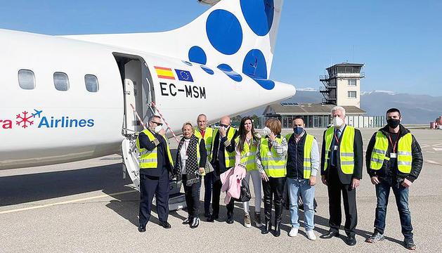 Andorra Airlines transporta Abinader fins a La Seu