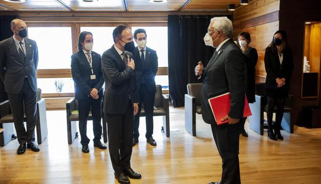 Espot i Costa, just abans de la trobada bilateral.