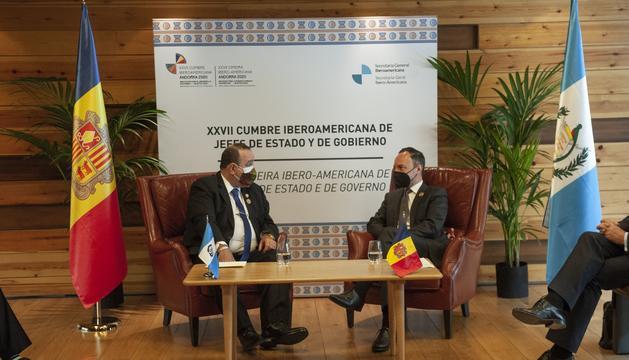 Espot ha mantingut reunions bilaterals amb el president de Guatemala i amb elpresident de la República Dominicana