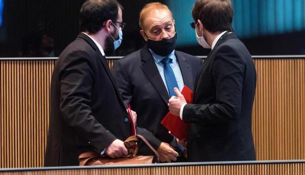 Parlamentaris de terceravia i el PS al Consell General.