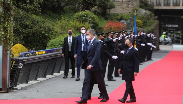 El rei d'Espanya, Felip VI, i el cap de Govern, Xavier Espot.