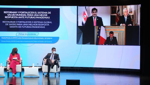 Grynspan i Sánchez, amb Macron, Alvarado i Piñera presents de manera telemàtica.