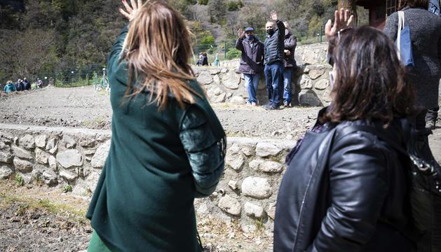 Un instant de l'acte de repartiment dels horts de la Margineda.