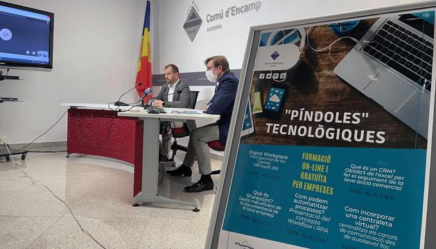 Nino Marot i Miquel Alís en presentant