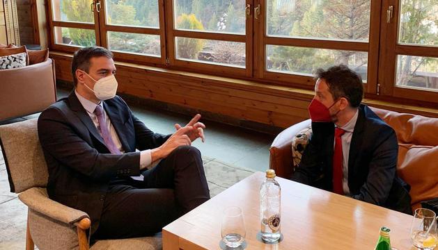 El líder socialdemòcrata i el president del govern espanyol a Soldeu aquest matí