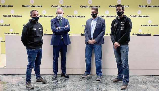 La seu de Crèdit Andorrà va acollir la roda de premsa de balanç.