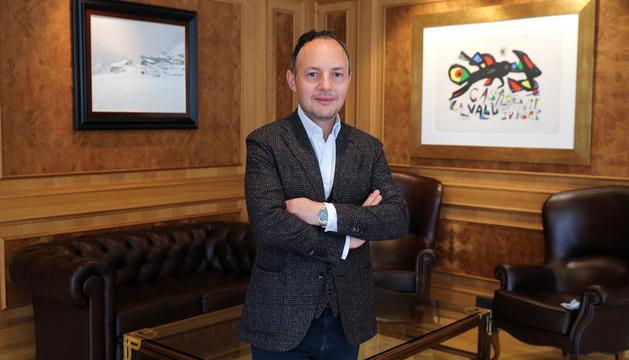 El cap de Govern, Xavier Espot, al seu despatx, ahir.