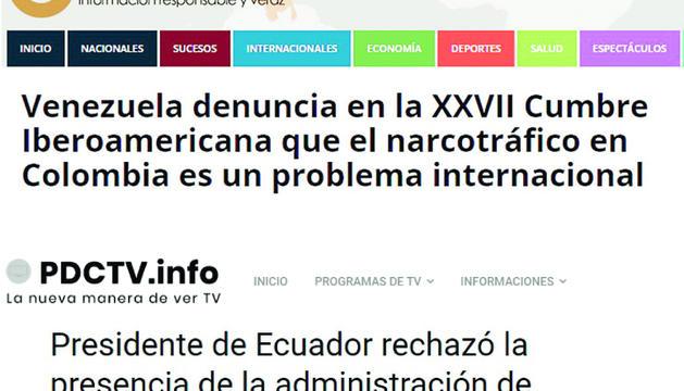 Dos titulars de mitjans llatinoamericans parlant del xoc entorn a Veneçuela.