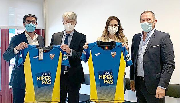 Reunió entre els representants del VPC Andorra, la ministra de Cultura i Esports, i l'ambaixador de França al Principat.