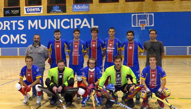 L'equip del Seat Andorra HC, en un duel anterior.