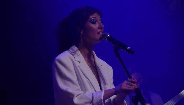Sara Núñez al concert de dissabte a l'Auditori.