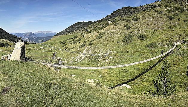El pont tibetà dels Cortals d'Encamp en una imatge d'arxiu.