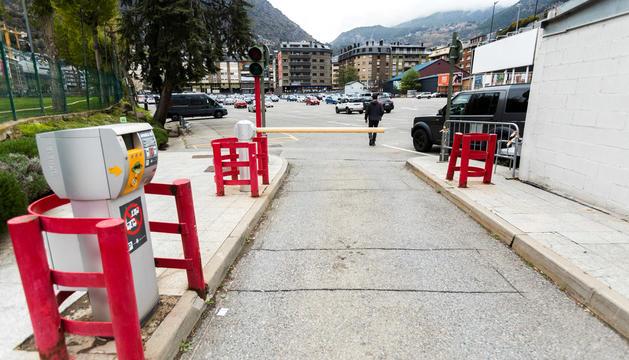 L'aparcament comunal del Parc Central, a Andorra la Vella.